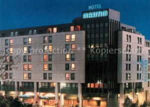 AK / Ansichtskarte Nuernberg Hotel Maritim Nachtaufnahme Kat. Nuernberg