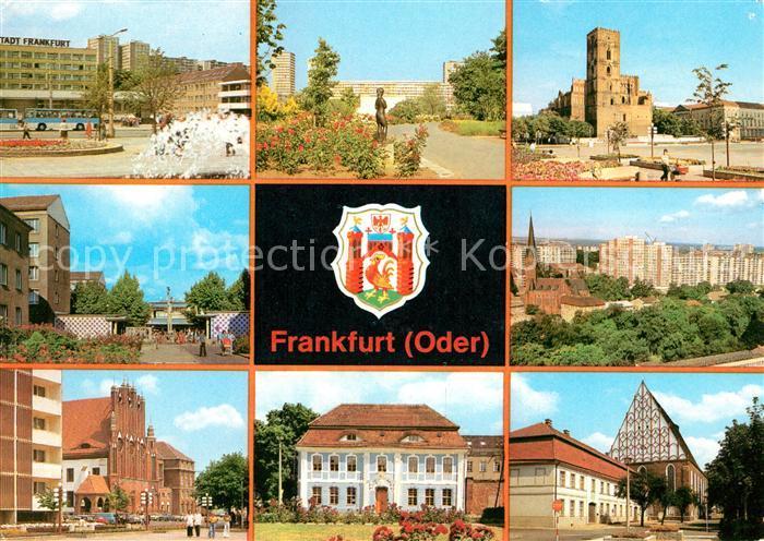 AK / Ansichtskarte Frankfurt Oder Hotel Stadt Frankfurt Rathaus Botanischer Garten Marienkirche Kat. Frankfurt Oder