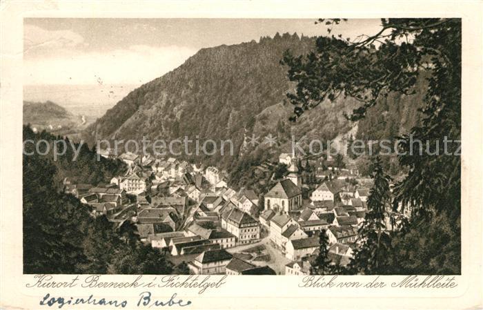 AK / Ansichtskarte Bad Berneck Panorama Blick von der Muehlleite Kat. Bad Berneck Fichtelgebirge