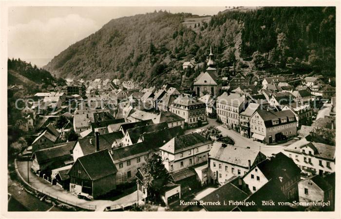 AK / Ansichtskarte Bad Berneck Blick vom Sonnentempel Kat. Bad Berneck Fichtelgebirge