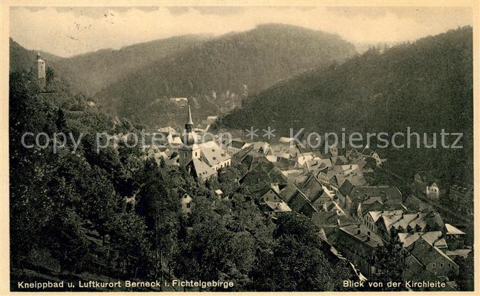 AK / Ansichtskarte Bad Berneck Panorama Blick von der Kirchleite Kat. Bad Berneck Fichtelgebirge