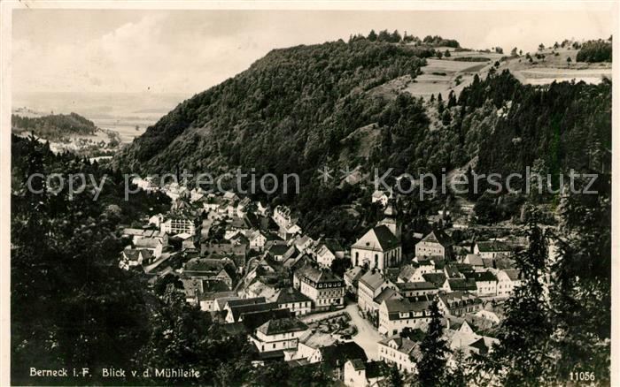 AK / Ansichtskarte Berneck Fichtelgebirge Blick von der Muehlleite Labi Karte Kat. Bad Berneck