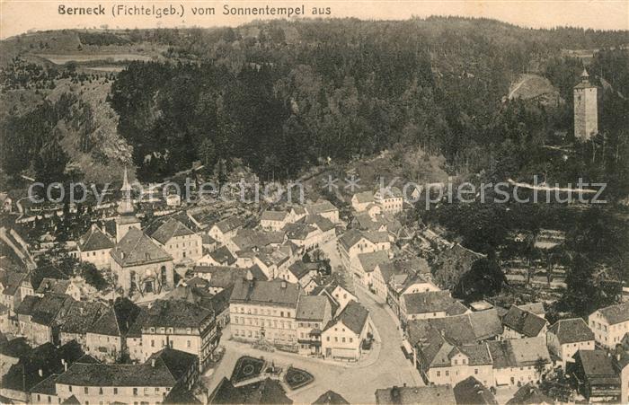 AK / Ansichtskarte Bad Berneck Blick vom Sonnentempel aus Kat. Bad Berneck Fichtelgebirge