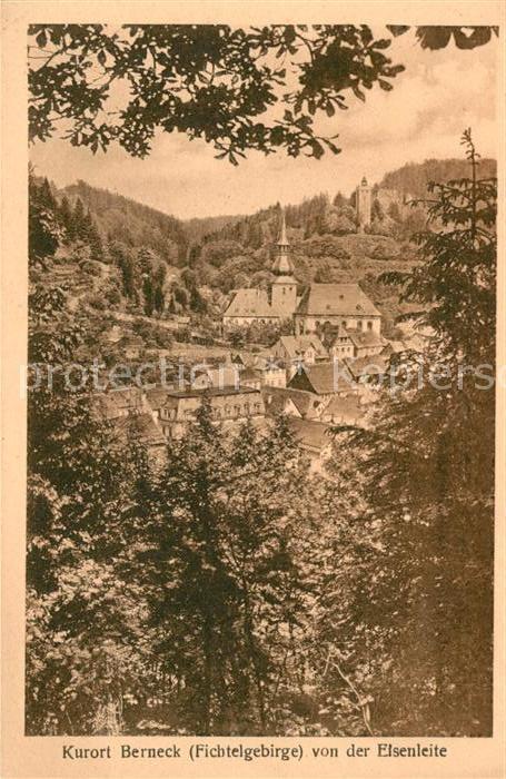 AK / Ansichtskarte Bad Berneck Blick von der Eisenleite Kat. Bad Berneck Fichtelgebirge