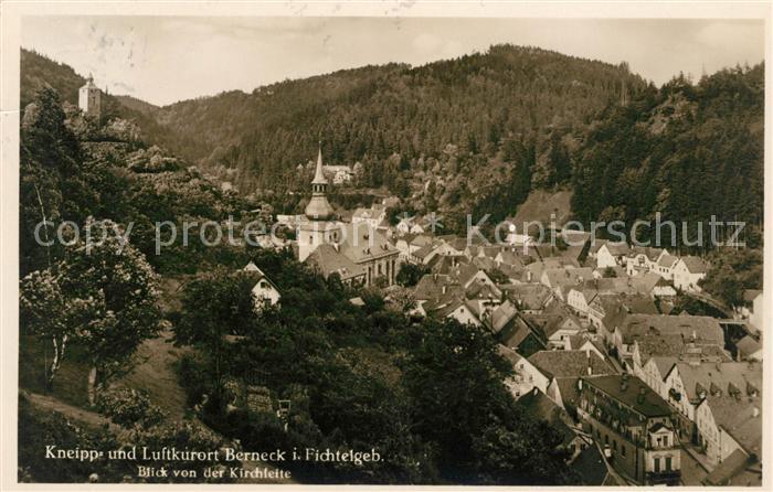 AK / Ansichtskarte Bad Berneck Blick von der Kirchleite Kat. Bad Berneck Fichtelgebirge