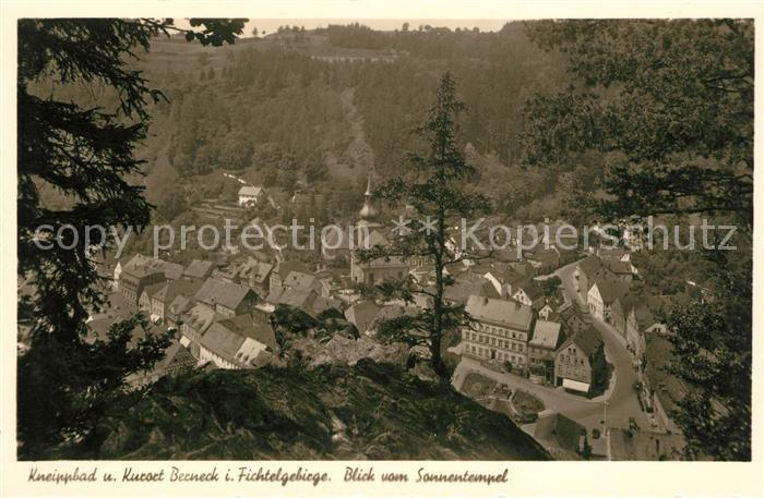 AK / Ansichtskarte Bad Berneck Blick vom Sonnentempel Kneippbad Kurort Kat. Bad Berneck Fichtelgebirge