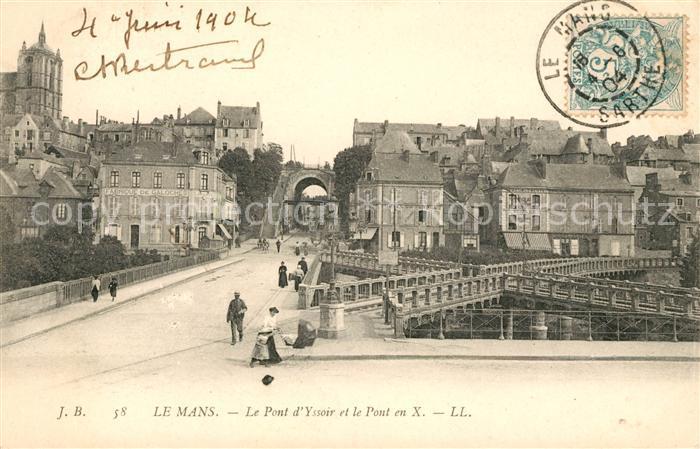 AK / Ansichtskarte Le Mans Sarthe Pont d Yssoir et le Pont en X Kat. Le Mans