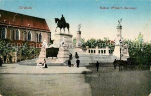 AK / Ansichtskarte Breslau Niederschlesien Kaiser Wilhelm Denkmal Kat. Wroclaw