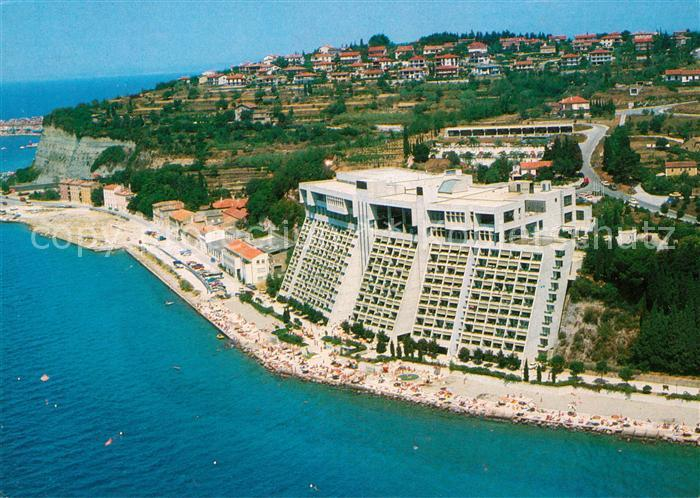 AK / Ansichtskarte Portoroz Fliegeraufnahme Hotel Bernardin Kat. Slowenien