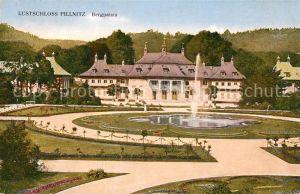 AK / Ansichtskarte Pillnitz Lustschloss Bergpalais Schlosspark Fontaene Kat. Dresden