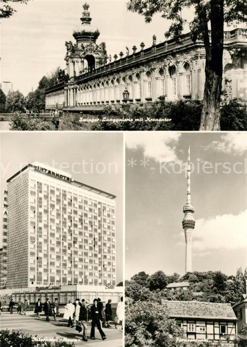 AK / Ansichtskarte Dresden Zwinger Langgalerie Kronentor Interhotel Kat. Dresden Elbe