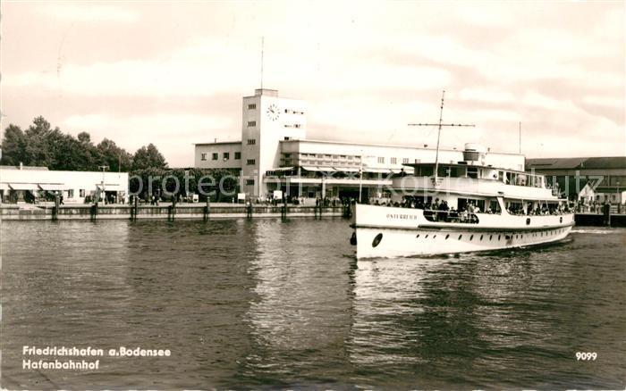 AK / Ansichtskarte Friedrichshafen Bodensee Hafenbahnhof Kat. Friedrichshafen