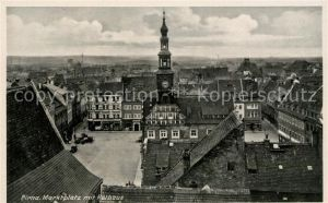 AK / Ansichtskarte Pirna Marktplatz mit Rathaus Kat. Pirna