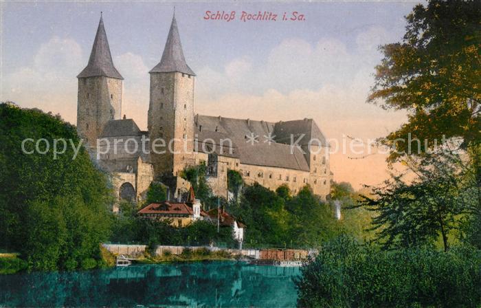 AK / Ansichtskarte Rochlitz Sachsen Schloss an der Mulde Kat. Rochlitz