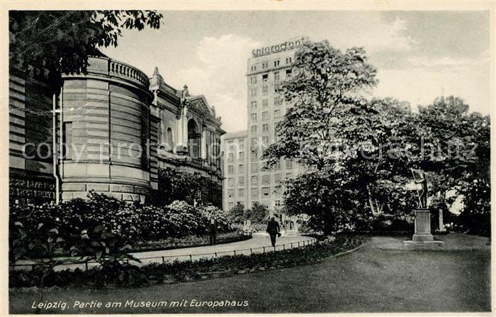 AK / Ansichtskarte Leipzig Partie am Museum mit Europahaus Kat. Leipzig