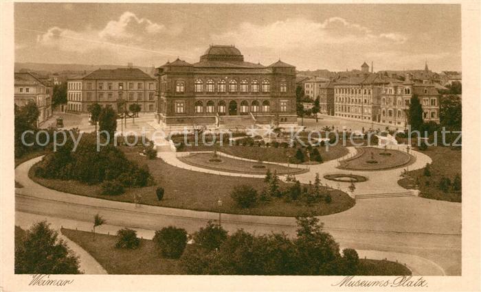 AK / Ansichtskarte Weimar Thueringen Museumsplatz Kupfertiefdruck Kat. Weimar