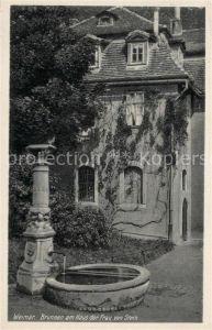 AK / Ansichtskarte Weimar Thueringen Brunnen am Haus der Frau von Stein Kat. Weimar