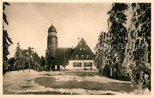 AK / Ansichtskarte Gottesgab Bozi Dar Plattenberg Wintersportplatz Sudetengau Berghotel Aussichtsturm Kat. Gottesgab