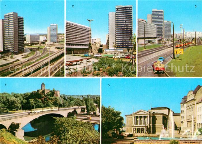 AK / Ansichtskarte Halle Saale Hochstrasse Ernst Thaelmann Platz Interhotel Stadt Halle  Kat. Halle