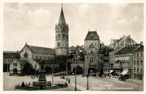 AK / Ansichtskarte Eisenach Thueringen Karlsplatz mit Lutherdenkmal Kirche Kat. Eisenach