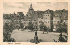 AK / Ansichtskarte Jena Thueringen Marktplatz Hanfried Denkmal