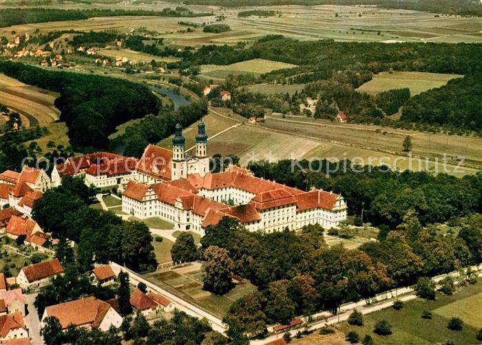 AK / Ansichtskarte Obermarchtal Fliegeraufnahme Schloss Rechtenstein Kat. Obermarchtal