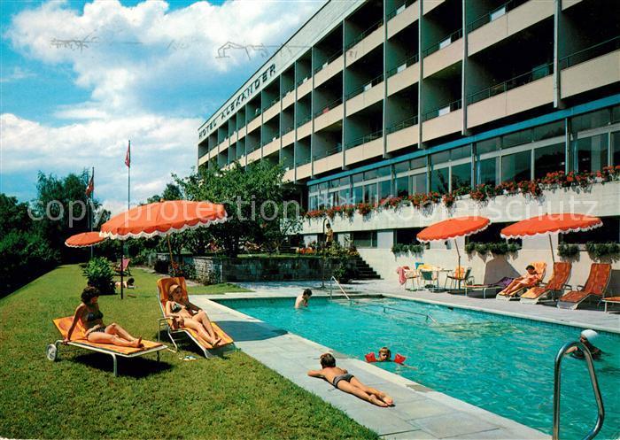 AK / Ansichtskarte Weggis Vierwaldstaettersee Hotel Alexander