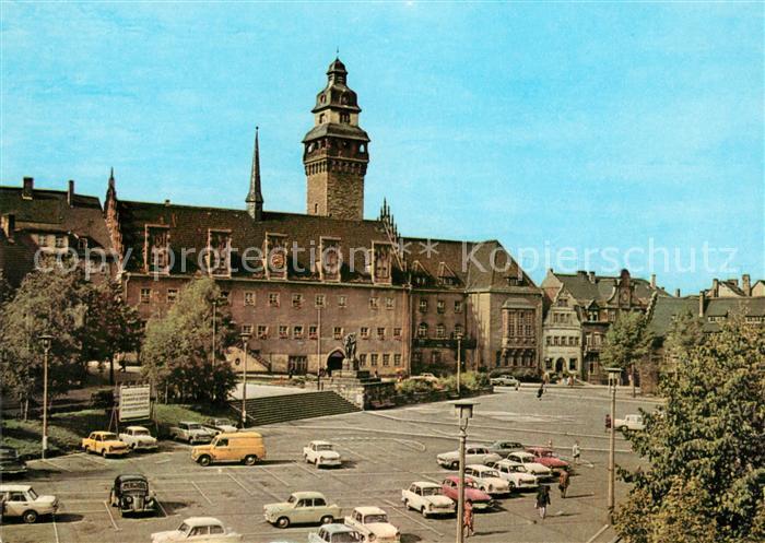 AK / Ansichtskarte Zeitz Rathaus Friedensplatz Kat. Zeitz
