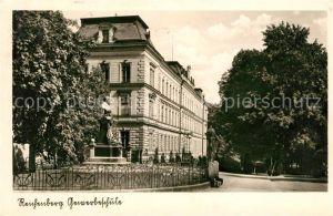 AK / Ansichtskarte Reichenberg Liberec Gewerbeschule Denkmal Bueste