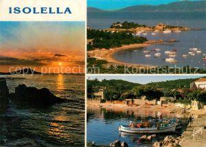 AK / Ansichtskarte Corse Ile de Isolella Sur la Rive sud du Golfe d'Ajaccio la Pointe des Sette Naves ses Plages de Sable fin et le petit Port Kat. Ajaccio
