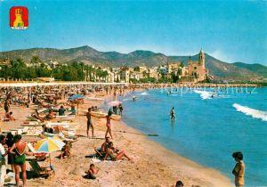 AK / Ansichtskarte Sitges Gran playa