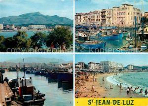 AK / Ansichtskarte Saint Jean de Luz Ville et le massif de la Rhune Port et la maison de Infante Le Port La Plage Kat. Saint Jean de Luz