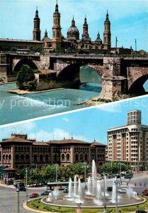 AK / Ansichtskarte Zaragoza Aragon Templo del Pilar y Plaza de Paraiso Kat. Zaragoza Saragossa