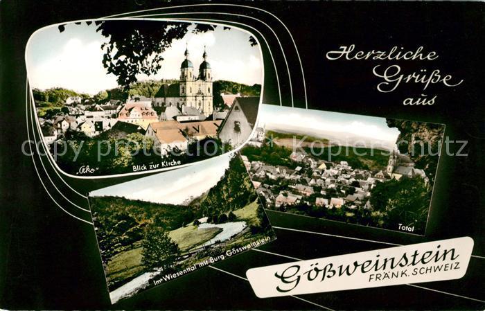 AK / Ansichtskarte Goessweinstein Kirche Panorama Wiesenthal Kat. Goessweinstein