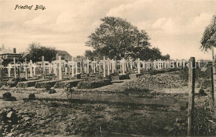 AK / Ansichtskarte Billy Montigny Friedhof Kat. Billy Montigny