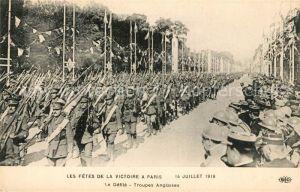AK / Ansichtskarte Paris Les Fetes de la Victoire Le Defile Troupes Anglaises Kat. Paris