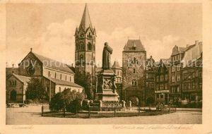 AK / Ansichtskarte Eisenach Thueringen Karlsplatz mit Lutherdenkmal Kupfertiefdruck Kat. Eisenach