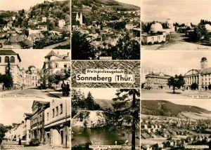 AK / Ansichtskarte Sonneberg Thueringen Deutsches Spielzeugmuseum Sternwarte Platz der Republik Koenigssee Kat. Sonneberg