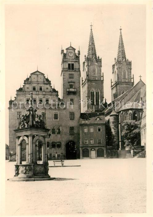 AK / Ansichtskarte Oschatz Rathaus Kirche Denkmal Kat. Oschatz