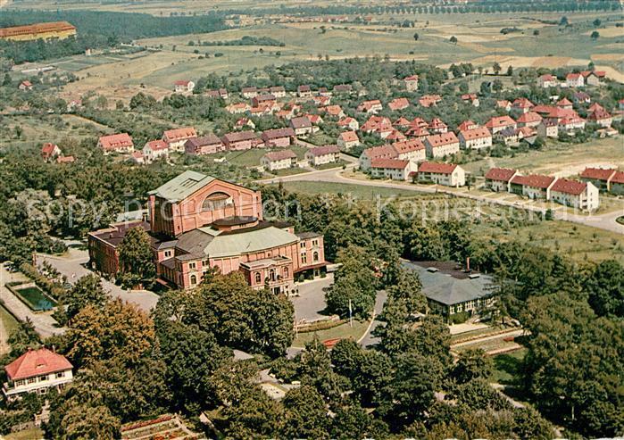 AK / Ansichtskarte Bayreuth Fliegeraufnahme Festspielhaus Richard Wagner Kat. Bayreuth