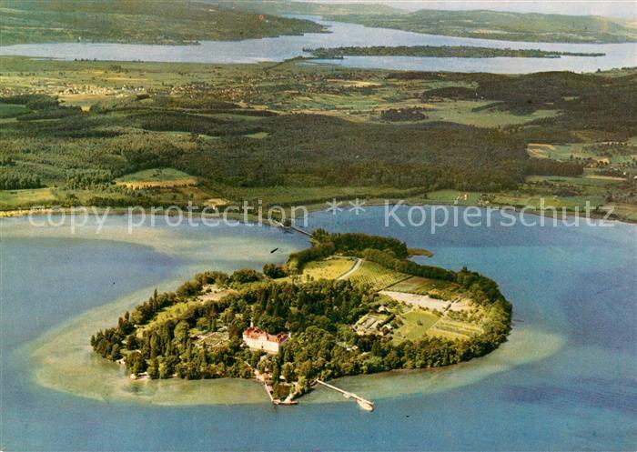 AK / Ansichtskarte Insel Mainau Fliegeraufnahme Kat. Konstanz Bodensee