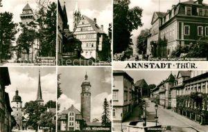 AK / Ansichtskarte Arnstadt Ilm Berggasthaus Alteburg Papiermuehle Schloss Riedtor Neideckturm Zimmerstrasse Kat. Arnstadt