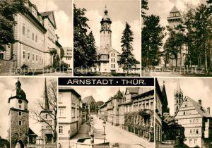 AK / Ansichtskarte Arnstadt Ilm Schloss Neideckturm Berggasthaus Alteburg Riedturm und Jakobsturm Zimmerstrasse Papiermuehle Kat. Arnstadt