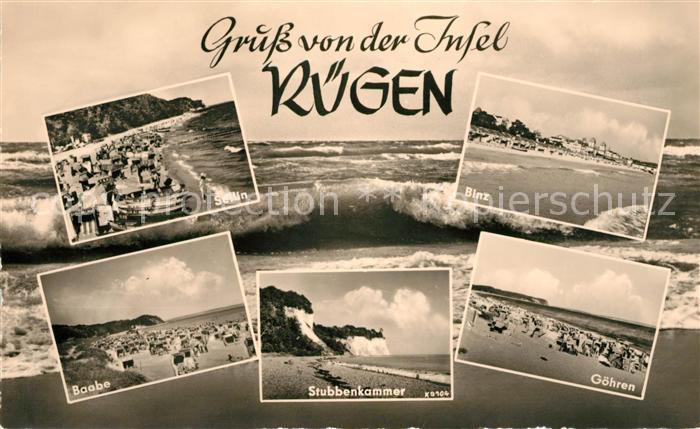 AK / Ansichtskarte Insel Ruegen Baabe Sellin Stubbenkammer Goehren Binz Kat. Bergen