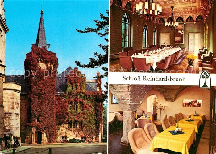 AK / Ansichtskarte Reinhardsbrunn Schloss Reinhardsbrunn Ahnensaal Schlosskellerbar  Kat. Friedrichroda