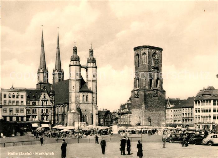 AK / Ansichtskarte Halle Saale Marktplatz Kat. Halle