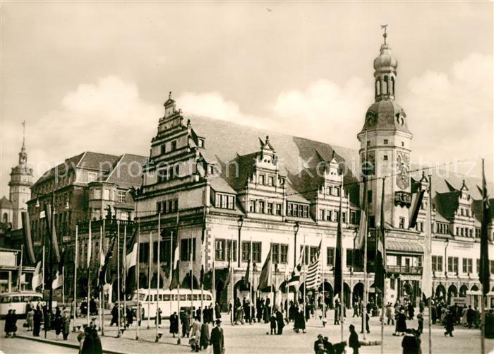 AK / Ansichtskarte Leipzig Markt mit altem Rathaus Kat. Leipzig