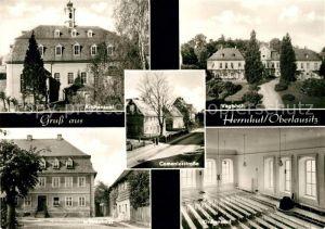 AK / Ansichtskarte Herrnhut Kirchensaal Vogtshof Witwenhaus Kirchensaal Comeniusstrasse Kat. Herrnhut