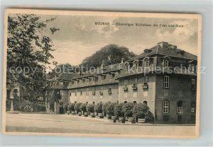 AK / Ansichtskarte Weimar Thueringen Ehemaliges Wohnhaus der Frau von Stein Kat. Weimar
