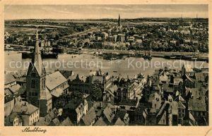 AK / Ansichtskarte Flensburg Stadtpanorama Grenzstadt der Nordmark Kat. Flensburg